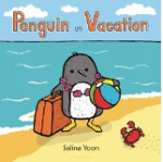 Penguin goes on vacation, enjoys the beach, and makes a new friend!